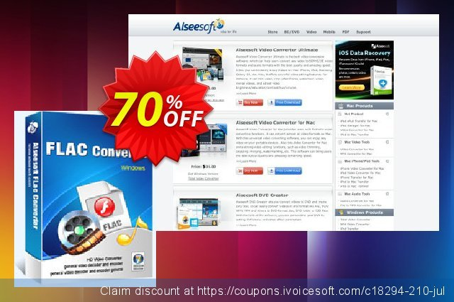 Aiseesoft FLAC Converter discount 70% OFF, 2020 Summer offering sales