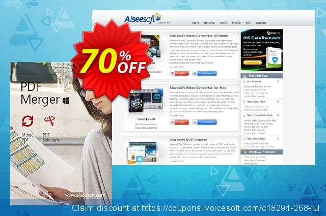Aiseesoft PDF Merger discount 50% OFF, 2019 Summer promo