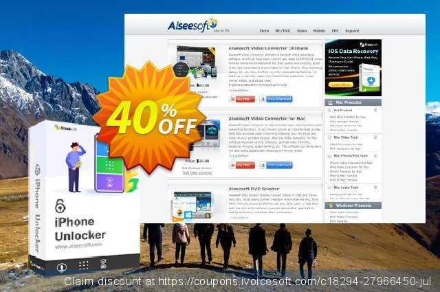 Aiseesoft iPhone Unlocker (Lifetime) discount 40% OFF, 2020 American Independence Day sales