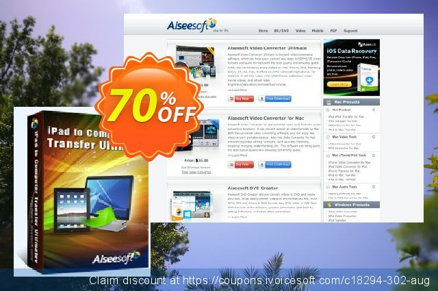 Aiseesoft iPad to Computer Transfer Ultimate discount 40% OFF, 2019 Summer offering discount