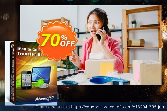 Aiseesoft iPod to Computer Transfer Ultimate discount 40% OFF, 2019 Spring deals