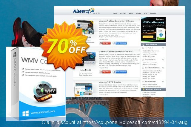 Aiseesoft WMV Converter discount 40% OFF, 2019 Father's Day deals