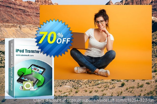 Aiseesoft iPod Transfer Platinum discount 70% OFF, 2020 Father's Day offering deals