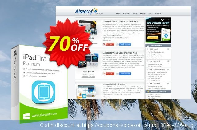 Aiseesoft iPad Transfer Platinum  굉장한   촉진  스크린 샷