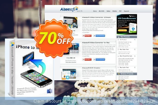 Aiseesoft iPhone to Mac Transfer Ultimate 惊人的 产品销售 软件截图