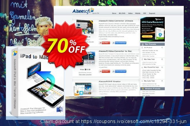 Aiseesoft iPad to Mac Transfer Ultimate discount 70% OFF, 2020 Father's Day deals