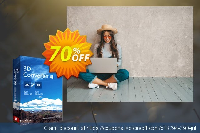 Aiseesoft 3D Converter discount 70% OFF, 2021 New Year's Day offering sales