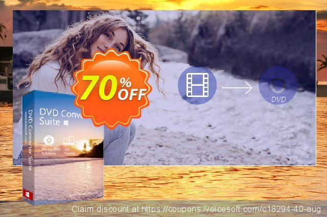 Aiseesoft DVD Converter Suite discount 40% OFF, 2019 Summer offering sales