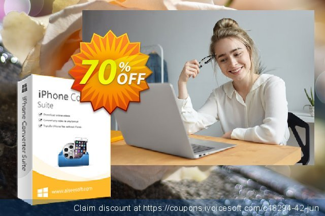 Aiseesoft iPhone Converter Suite discount 40% OFF, 2019 Summer offering sales