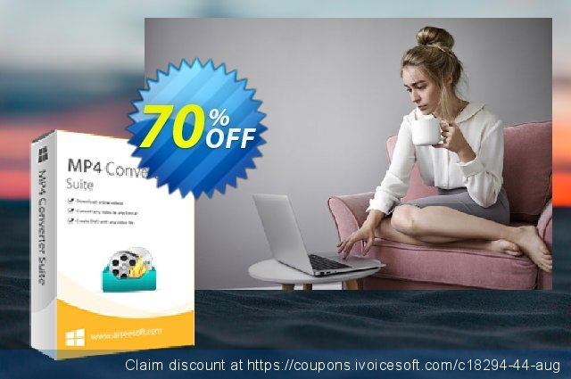 Aiseesoft MP4 Converter Suite discount 40% OFF, 2019 Summer offering sales