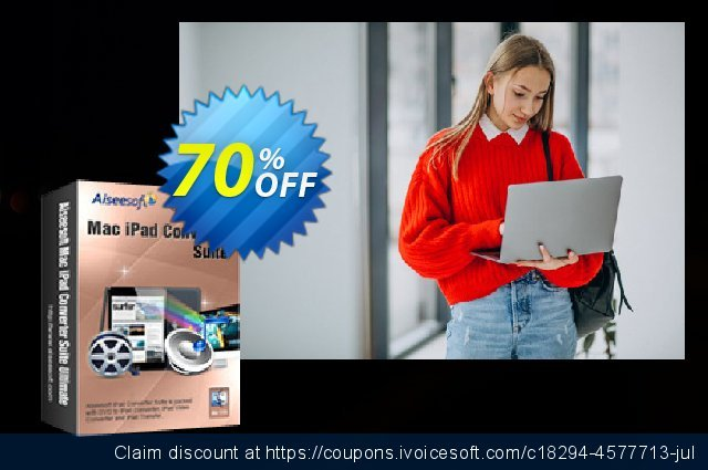 Aiseesoft Mac iPad Converter Suite Ultimate discount 40% OFF, 2019 Back to School deals offering sales