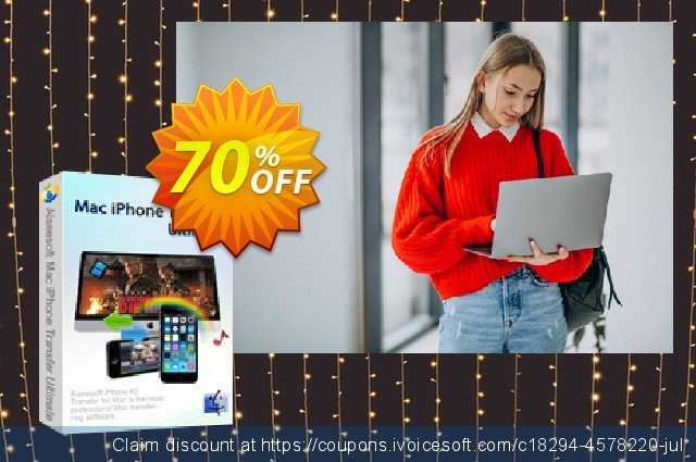 Aiseesoft Mac iPhone Transfer Ultimate discount 40% OFF, 2019 Back to School coupons promotions