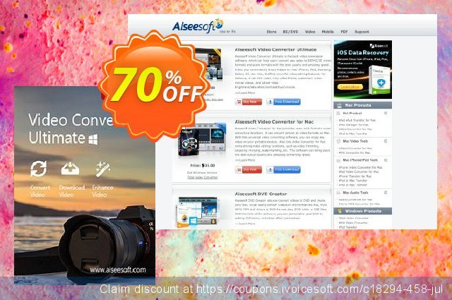Aiseesoft Video Converter Ultimate 대단하다  촉진  스크린 샷