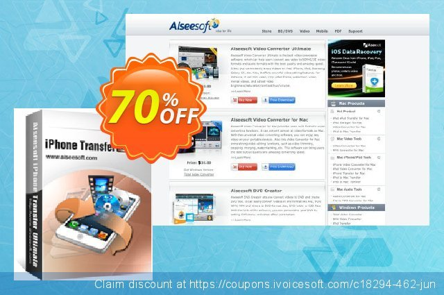 Aiseesoft iPhone Transfer Ultimate  신기한   제공  스크린 샷