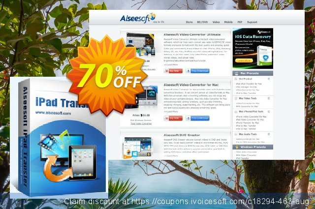 Aiseesoft iPad Transfer Ultimate discount 40% OFF, 2019 Father's Day offering sales