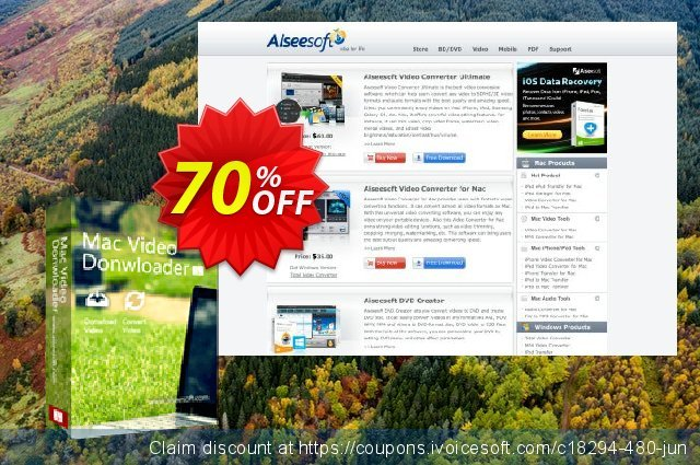 Aiseesoft Mac Video Downloader discount 30% OFF, 2019 Back-to-School promotions offering sales