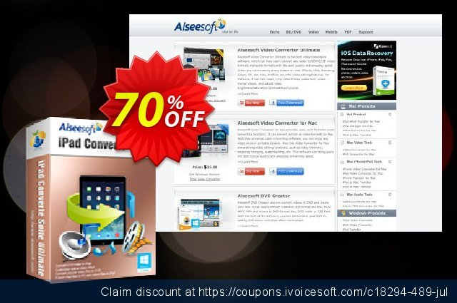 Aiseesoft iPad Converter Suite Ultimate discount 10% OFF, 2019 New Year's Day offering sales