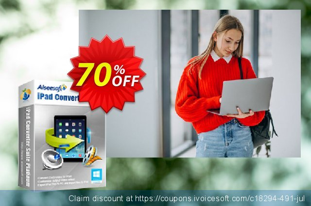Aiseesoft iPad Converter Suite Platinum discount 70% OFF, 2020 Father's Day offering sales