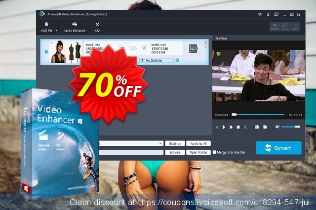 Aiseesoft Video Enhancer discount 50% OFF, 2019 Father's Day offer