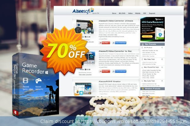 Aiseesoft Game Recorder discount 40% OFF, 2019 Daylight Saving discount