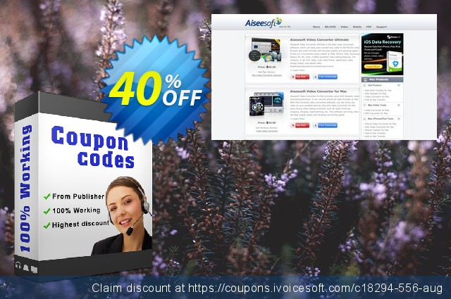 Aiseesoft Mac FoneLab + 6 Devices discount 40% OFF, 2019 New Year's Weekend offering sales