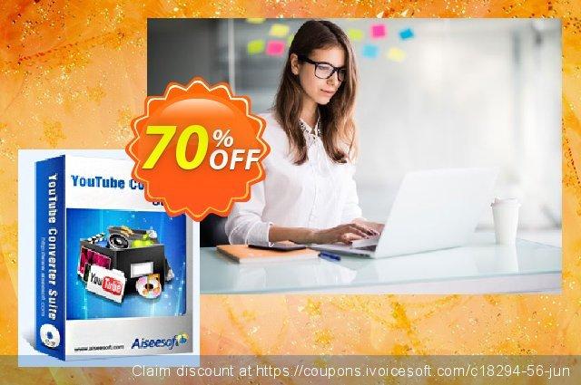 Aiseesoft Youtube Converter Suite discount 40% OFF, 2019 Back to School season offering sales