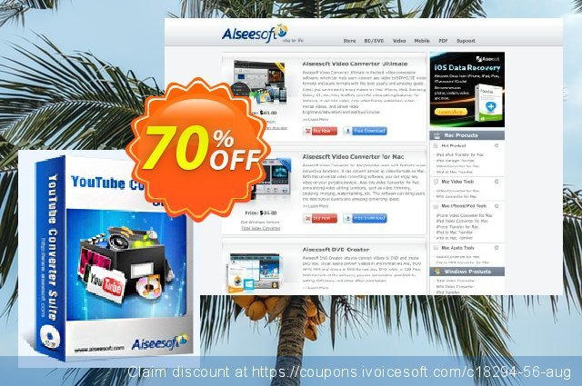 Aiseesoft Youtube Converter Suite discount 40% OFF, 2019 Summer promo sales