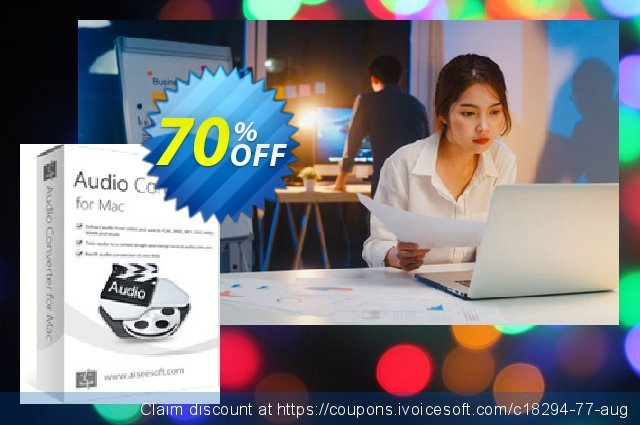 Aiseesoft Audio Converter for Mac discount 40% OFF, 2019 Father's Day offering sales