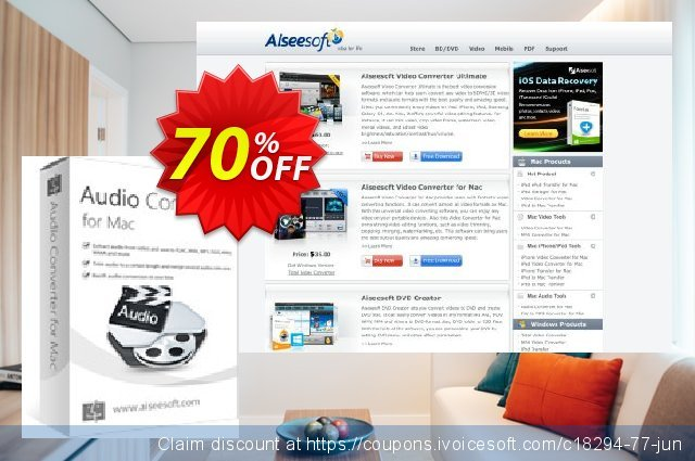 Aiseesoft Audio Converter for Mac 独占 产品销售 软件截图