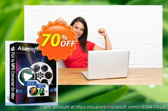 Aiseesoft FLV to MP3 Converter for Mac discount 40% OFF, 2019 Daylight Saving promo