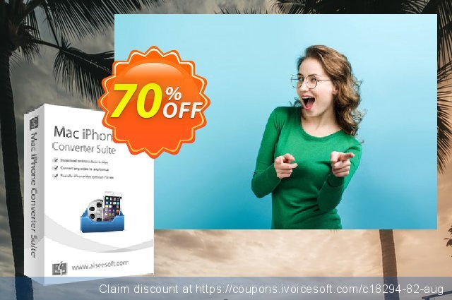 Aiseesoft Mac iPhone Converter Suite 超级的 产品交易 软件截图