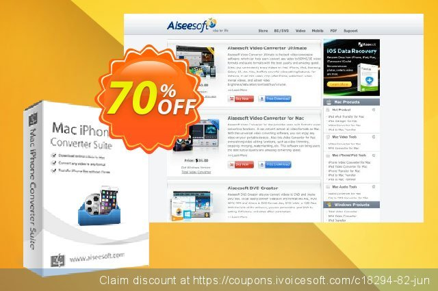 Aiseesoft Mac iPhone Converter Suite  최고의   제공  스크린 샷