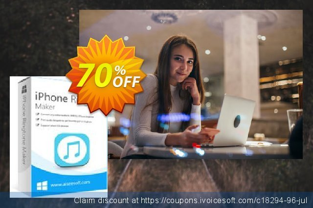 Aiseesoft iPhone Ringtone Maker discount 50% OFF, 2019 Back to School offer offering sales