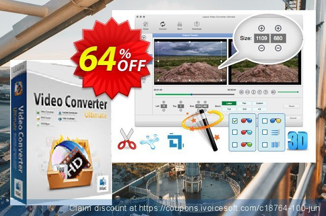 Leawo Video Converter Ultimate for Mac discount 64% OFF, 2020 Back to School Promos offering sales