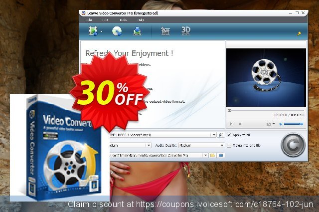Leawo Video Converter Lifetime discount 30% OFF, 2020 Back to School promo offering sales