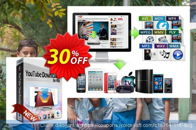 Leawo YouTube Downloader for Mac Lifetime discount 30% OFF, 2020 Teacher deals promo sales