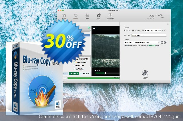 Leawo Blu-ray Copy for Mac Lifetime discount 30% OFF, 2020 Back to School promotion offering sales