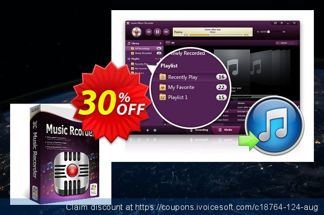 Leawo Music Recorder Lifetime discount 30% OFF, 2021 Mother Day offering sales. Leawo coupon (18764)