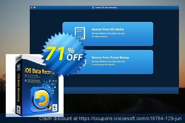 Leawo iOS Data Recovery for Mac Lifetime discount 71% OFF, 2020 July 4th sales