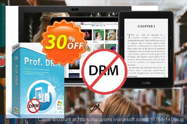 Leawo Prof. DRM eBook Converter discount 30% OFF, 2020 Black Friday offering sales