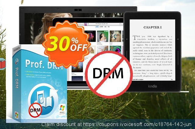 Leawo Prof. DRM eBook Converter discount 30% OFF, 2020 Thanksgiving Day discounts