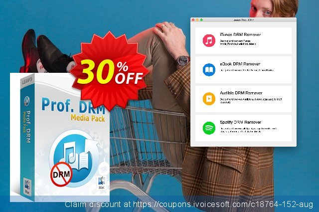 Leawo Prof. DRM Media Pack For Mac discount 30% OFF, 2020 Black Friday promo