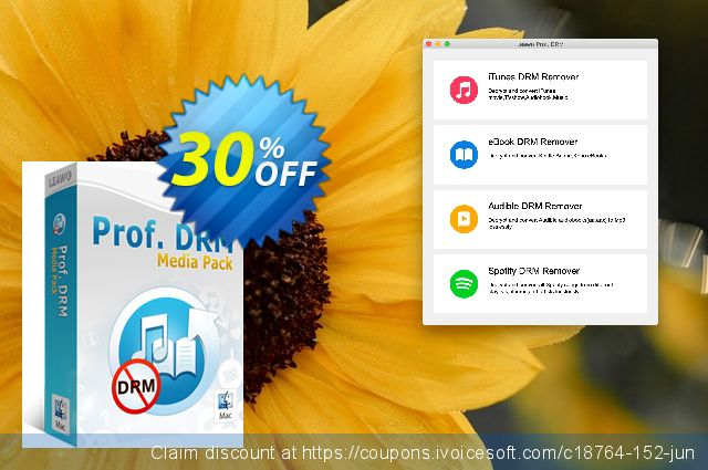 Get 30% OFF Leawo Prof. DRM Media Pack For Mac discounts