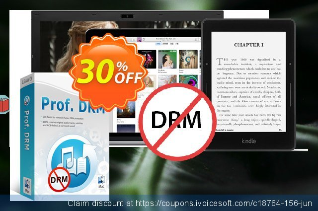 Leawo Prof. DRM For Mac discount 30% OFF, 2020 Thanksgiving offering sales