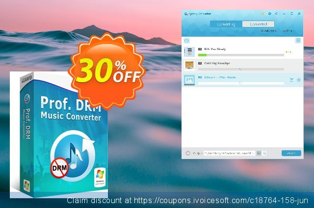 Leawo Prof. DRM Spotify Converter discount 30% OFF, 2021 Global Running Day offering sales. Leawo coupon (18764)