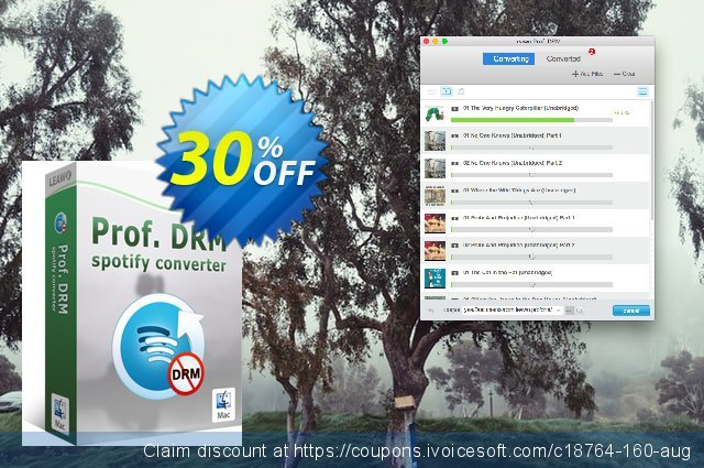 Leawo Prof. DRM Spotify Converter For Mac discount 30% OFF, 2021 Egg Day offering sales. Leawo coupon (18764)