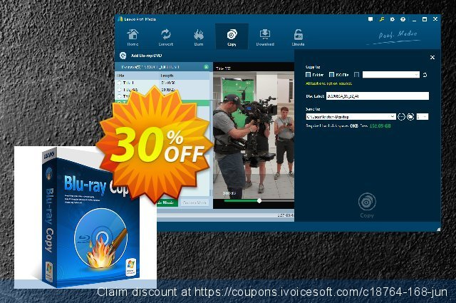 Leawo Blu-ray Copy (1-year) discount 30% OFF, 2020 Back to School deals offer