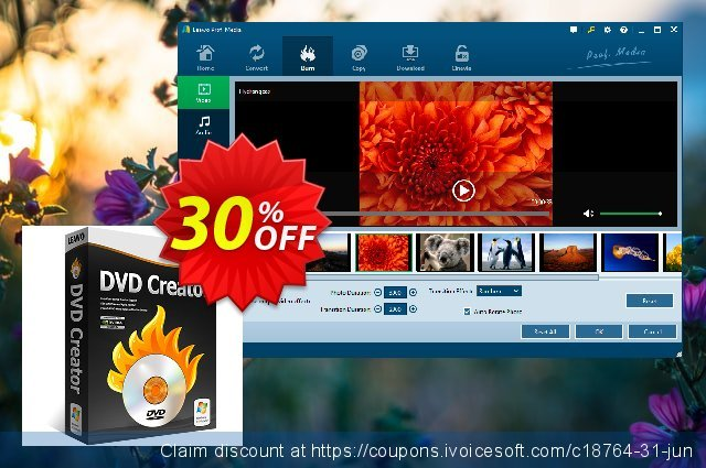Leawo DVD Creator 1-year discount 30% OFF, 2021 Labour Day offering sales. Leawo coupon (18764)