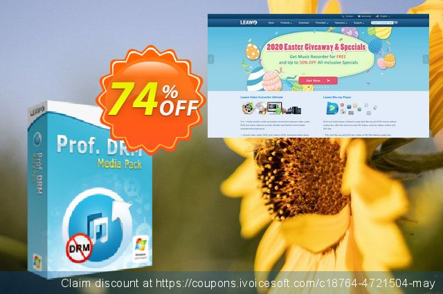 Leawo Prof. DRM Media Pack discount 74% OFF, 2020 Halloween offering deals