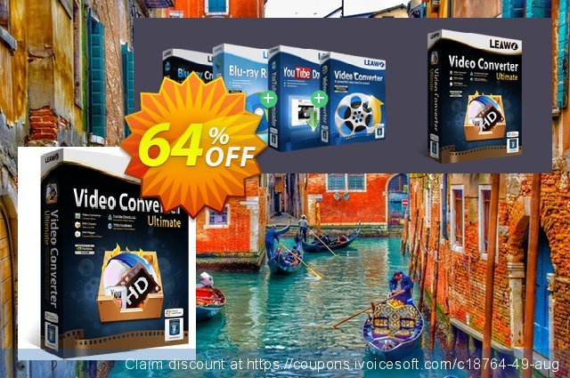 Leawo Video Converter Ultimate discount 64% OFF, 2020 Back to School event offering sales